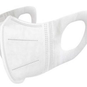 3D Mondmasker wit, 3 laags, wegwerp