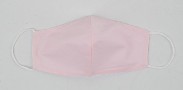 95-103-8001 uni licht rose - Trendy mondkapje van katoen - 3D - waterafstotend, wasbaar en herbruikbaar (1)