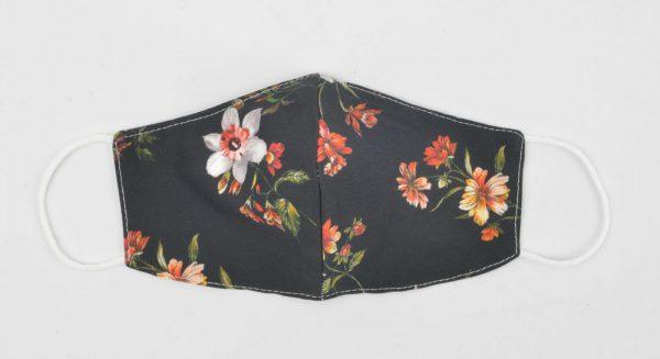 95-116-9901 Old flower - 3D Trendy mondkapje van katoen - waterafstotend wasbaar herbruikbaar