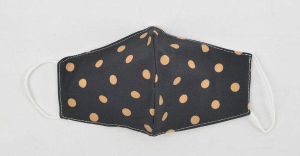 95-122-2301 Spots zwart roest 3D Trendy mondkapje van katoen - waterafstotend wasbaar herbruikbaar