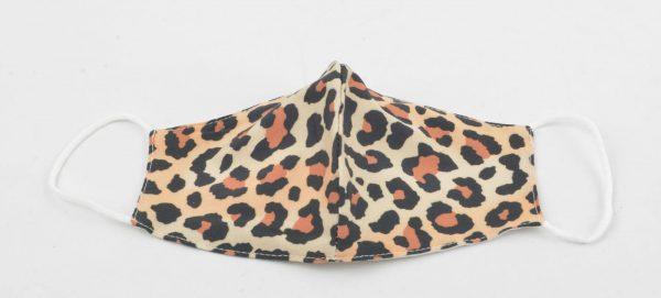 95-123-3301 Leopard bruin - 3D Trendy mondkapje van katoen - waterafstotend wasbaar herbruikbaar