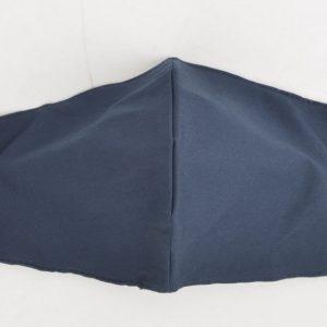Trendy mondkapje van katoen - uni Navy blauw - 3D - waterafstotend, wasbaar en herbruikbaar