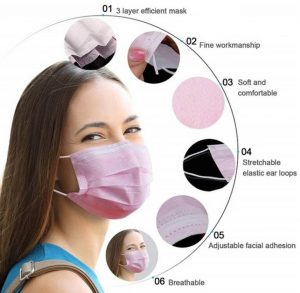 kwaliteit ffp2 medische roze mondkapjes